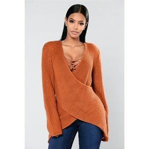 Fashion Nova | Rene Surplice Sweater